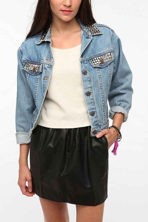 Urban Renewal Studded Denim Jacket