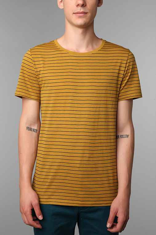 BDG Wide-Neck Pinstripe Tee