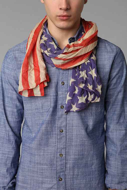 Lightweight Stars 'N' Stripes Scarf