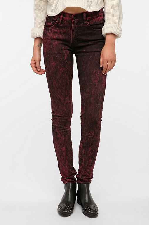 WESC Lizzy Skinny Jean - Red Acid Wash