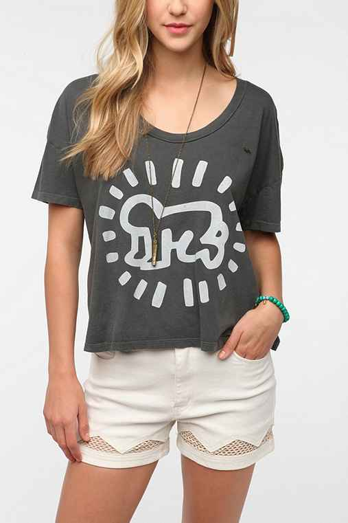 OBEY Keith Haring Baby Cropped Tee