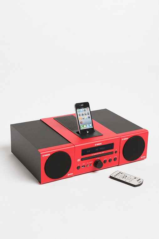 Yamaha MCR-040 Micro System MP3 Speaker Dock - Red