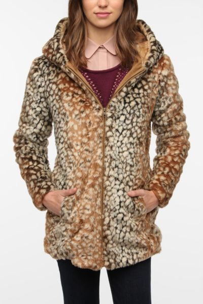 Lucca Couture Speckled Faux Fur Coat