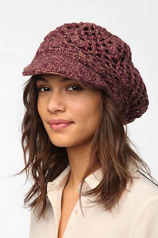 Staring at Stars Open-Knit Cabbie Hat