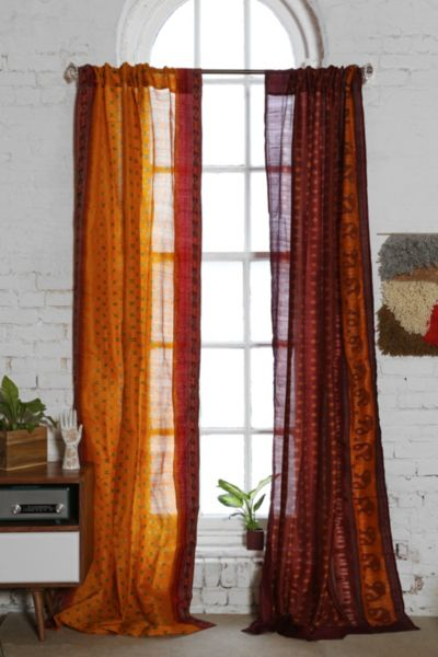 Magical Thinking Silk Sari Curtain