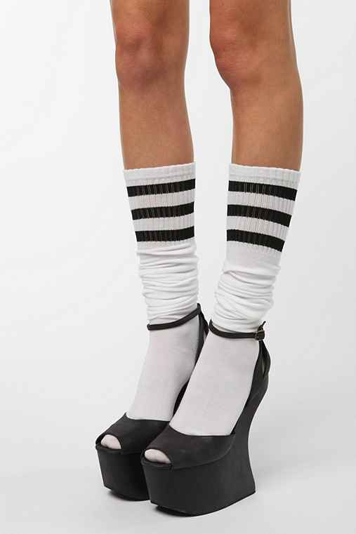 Athletic Stripe Over-The-Knee Sock