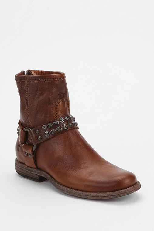 Frye Philip Studded Harness Ankle Boot