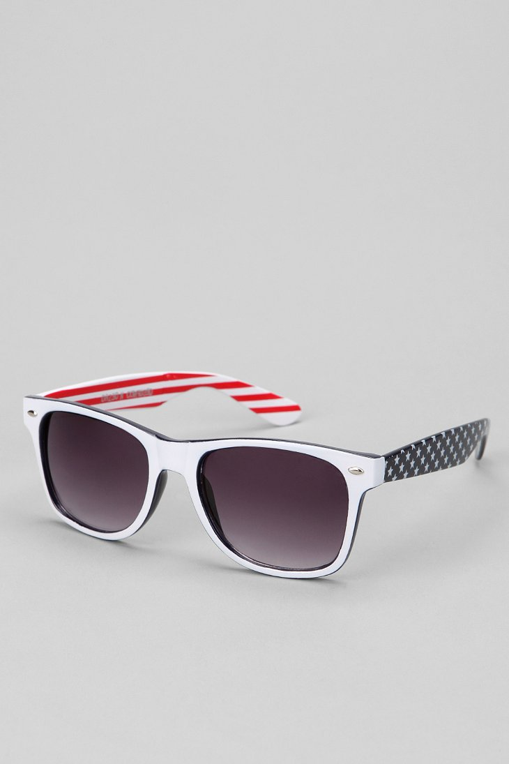 4th Of July Risky Sunglasses - Urban Outfitters :  blue american patriotic risky