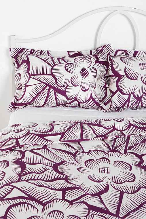 Thumbnail image for Plum & Bow Floral Crosshatch Sham