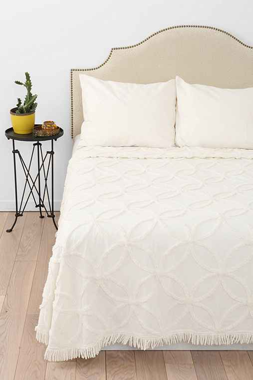 Circle Chain Chenille Coverlet