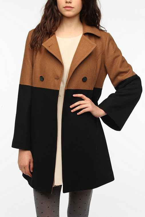 Pins And Needles Colorblock Mod Coat