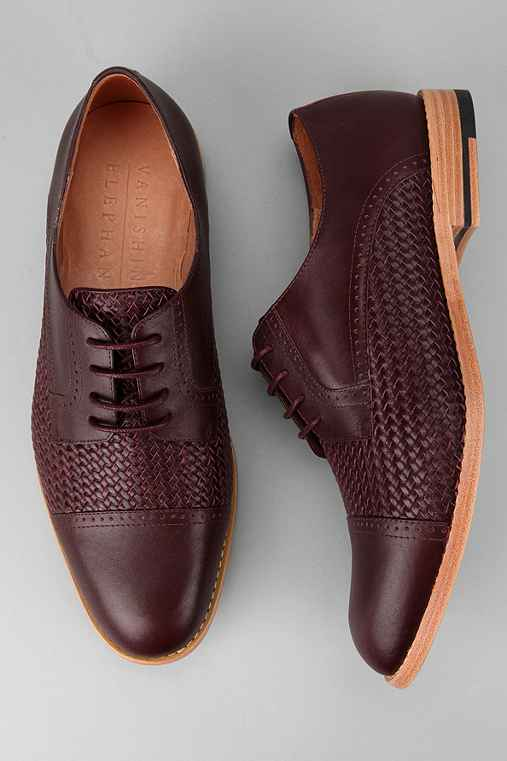 Vanishing Elephant Cadmium Woven Derby Shoe