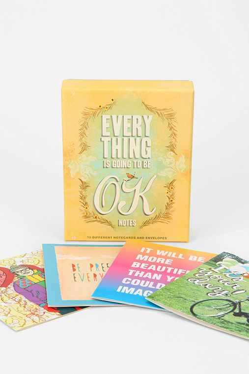 Everything Is Going To Be Ok Notecards