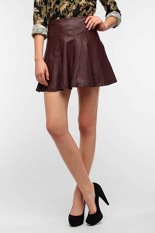 Sparkle & Fade Vegan Leather Circle Skirt