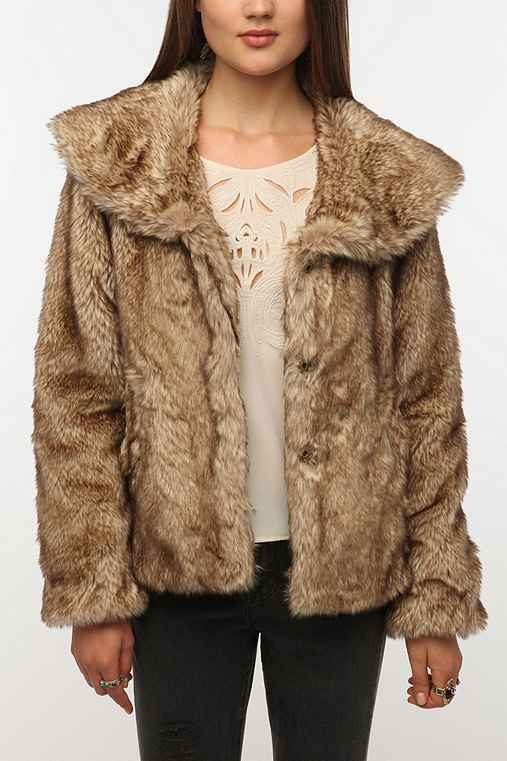 Latte Faux Fur Coat