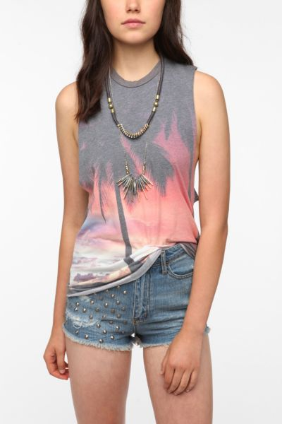 Truly Madly Deeply Midnight Palms Tank Top