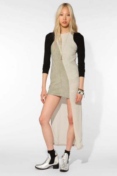 Shakuhachi Luxe Utility Asymmetric Slice Dress