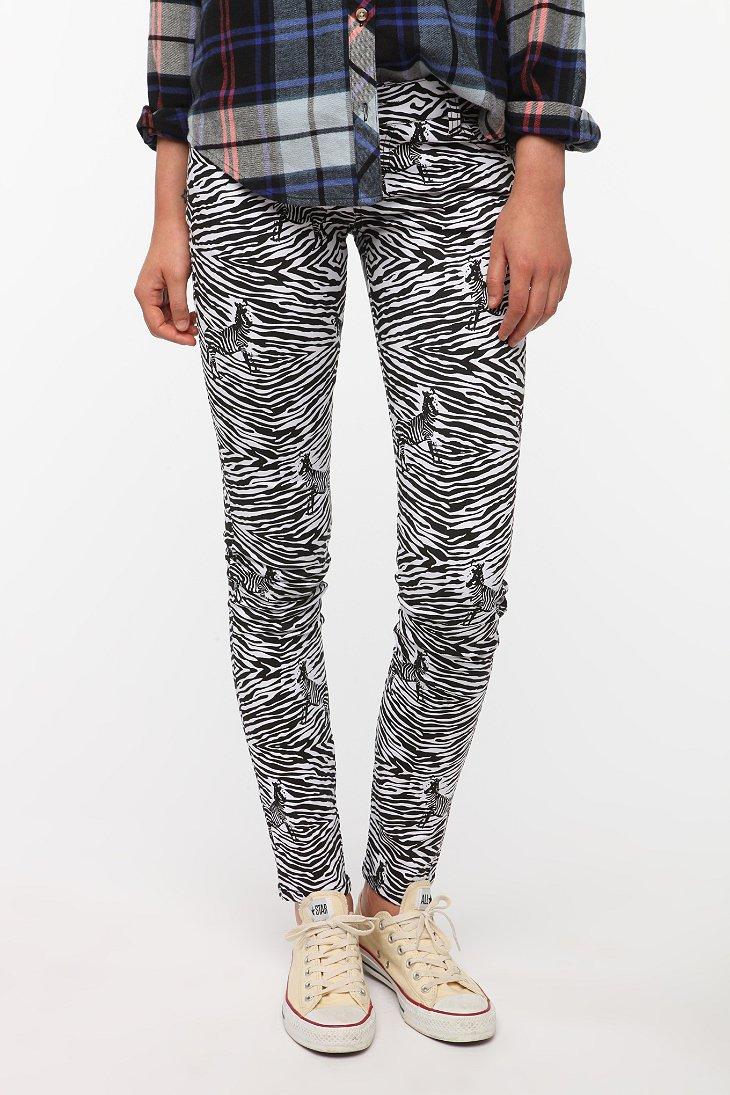 Tripp NYC Zebra Print Jean
