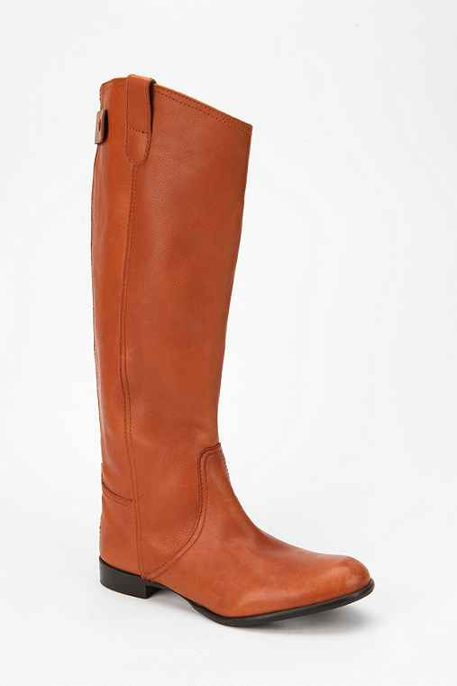 BDG Tall Leather Back-Zip Boot