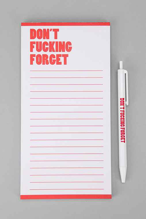 Nasty Notepad: Red One Size Notepads