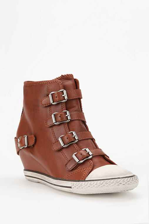 Ash Eagle Leather High-Top Wedge-Sneaker