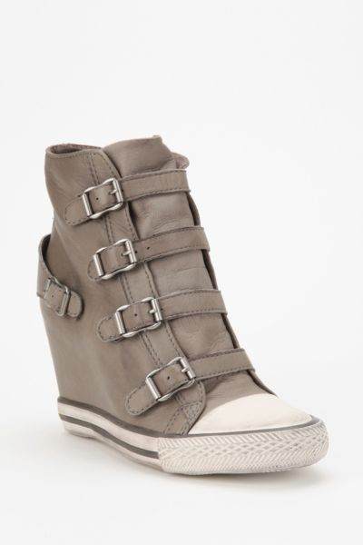 Ash United Leather Wedge-Sneaker