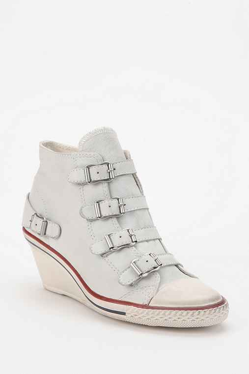 Ash Genial Leather High-Top Wedge-Sneaker