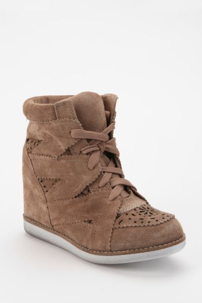 Jeffrey Campbell Venice Suede High-Top Wedge-Sneaker