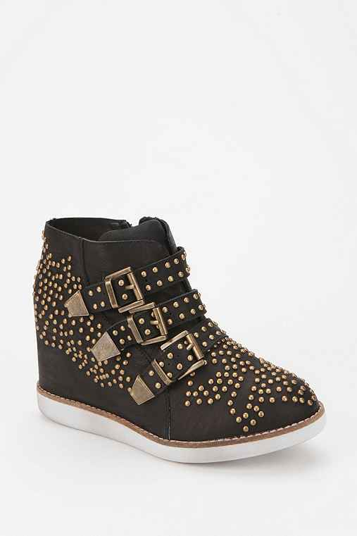 Jeffrey Campbell Stud Buckle Wedge-Sneaker
