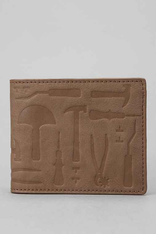 Hester St. Trading Co. Embossed Tool Bifold Wallet