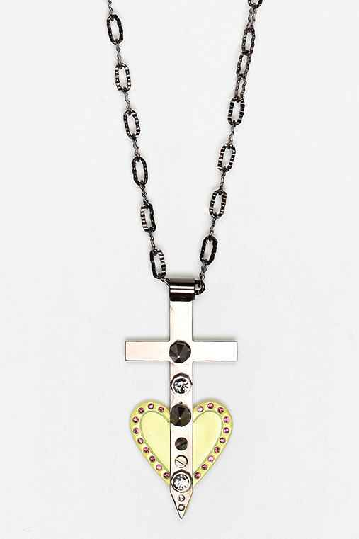 MariaFrancescaPepe Cross Your Heart Necklace