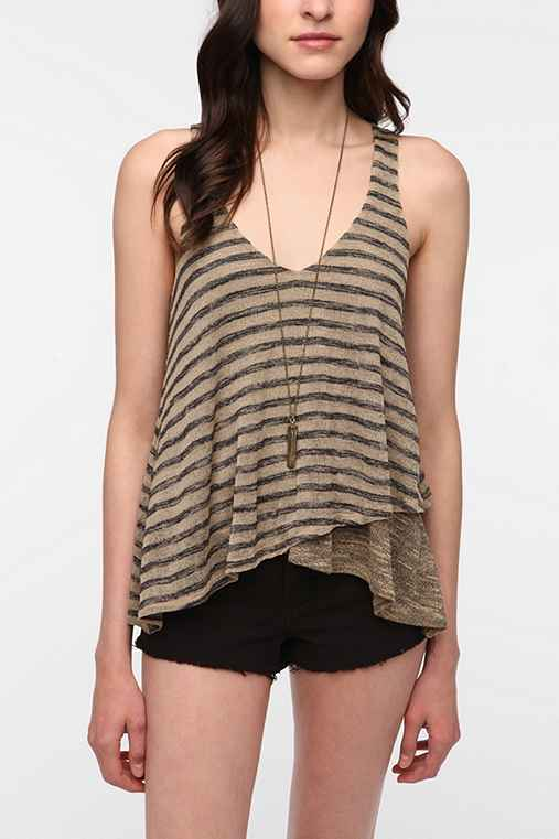 Sparkle & Fade Double Layer Sweater Knit Tank Top