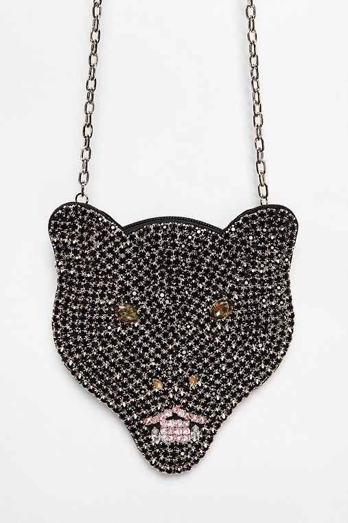 Deena & Ozzy Rhinestone Panther Pouch