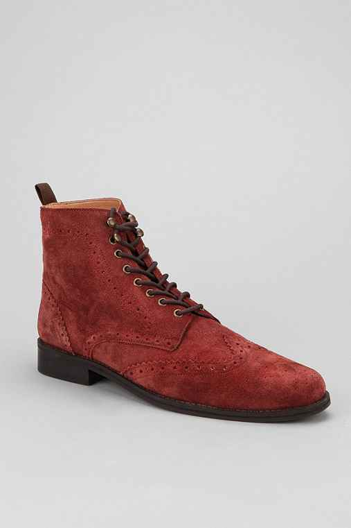 Hawkings McGill Brogue Suede Boot
