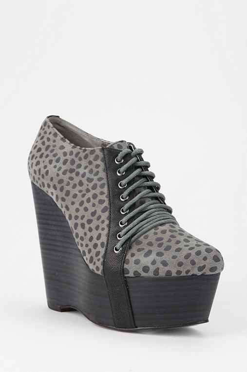 Grey City Jennie Lace-Up Platform Wedge