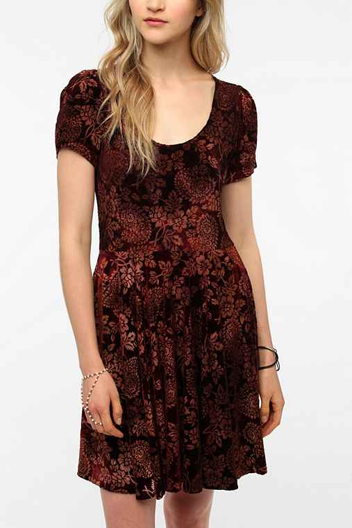 MINKPINK Russian Roulette Velvet Dress