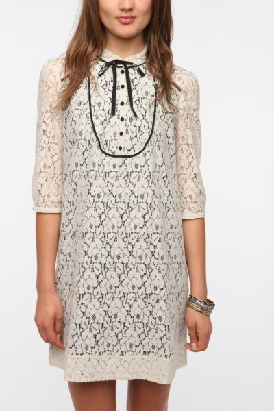 Cooperative Lace Bow Tie Frock Dress