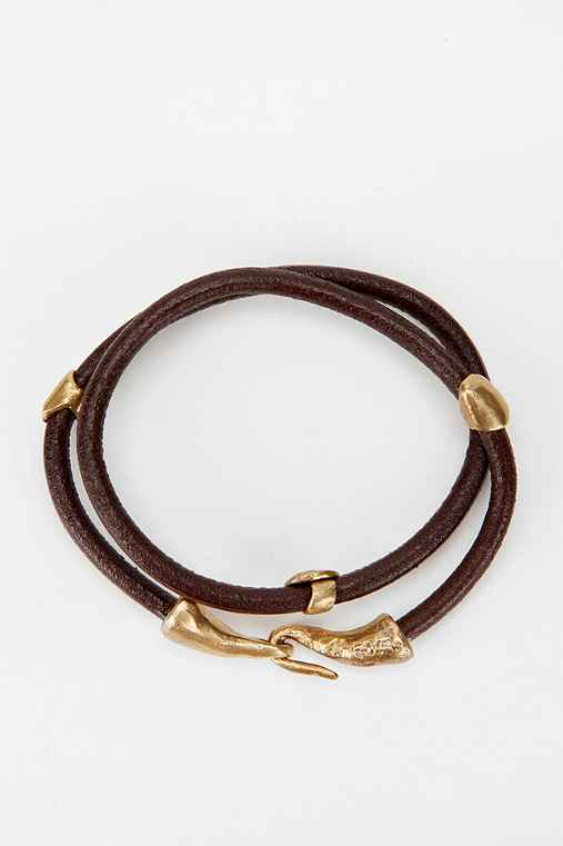 Alkemie Nugget Leather Double-Wrap Bracelet