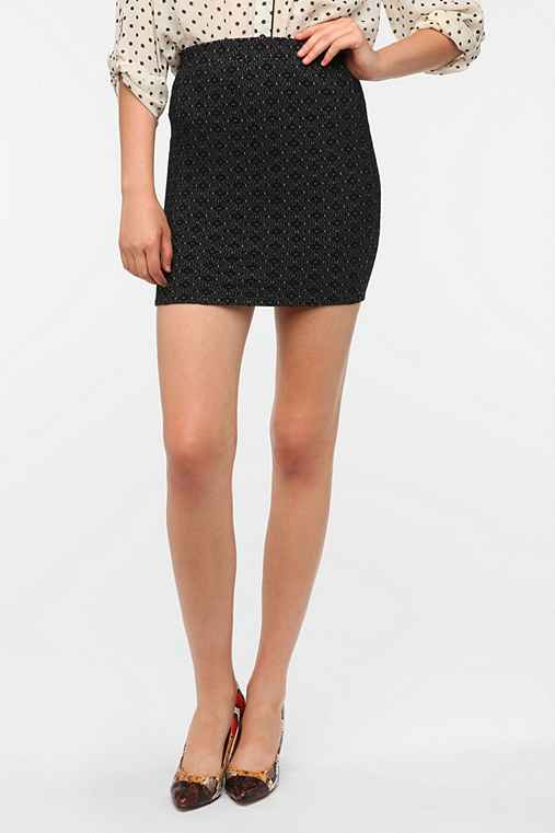 Sparkle & Fade Knit Jacquard Mini Skirt