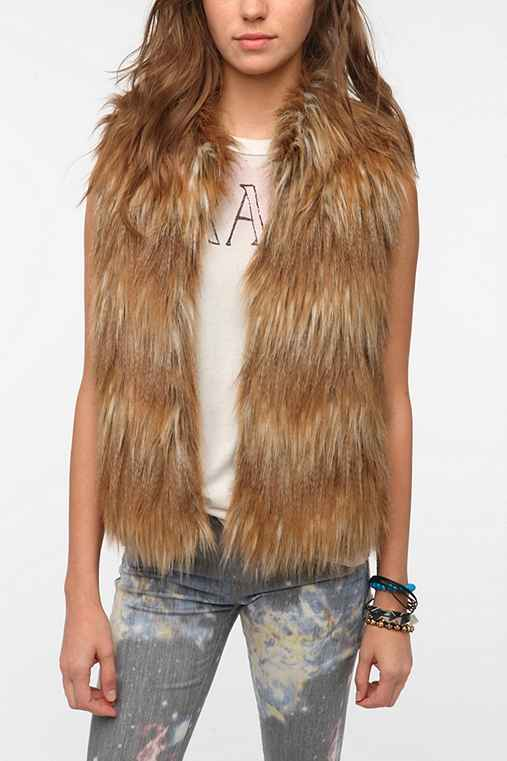 Pins and Needles Faux Fur Vest