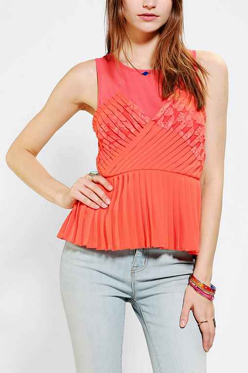Pins And Needles Accordion Pleat Tank Top