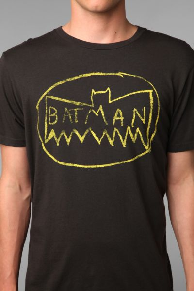 Junk Food Messy Batman Logo Tee