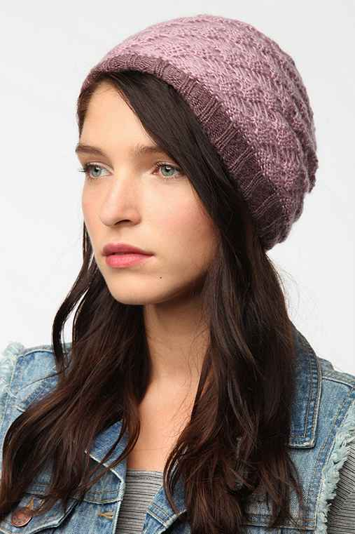Layered Crochet Beanie