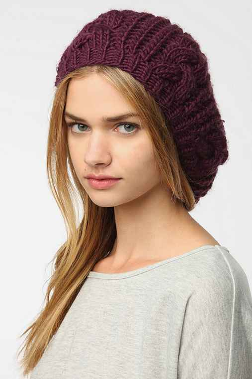 BDG Cable Knit Beret