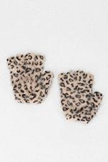 Printed Angora Fingerless Glove