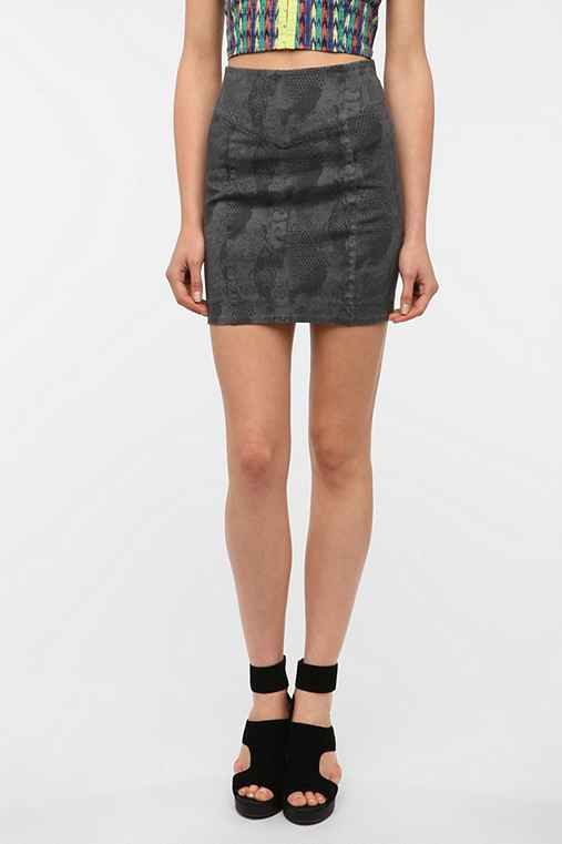 Silence & Noise Denim Pencil Skirt