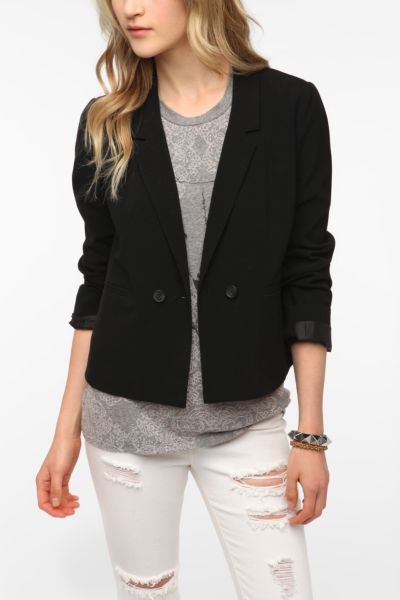 BDG Cropped Double Button Blazer