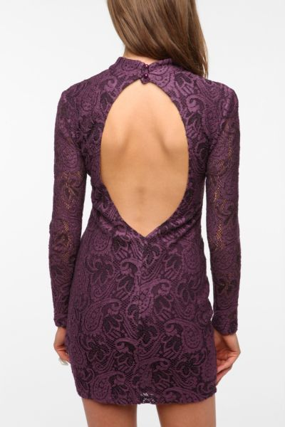 Pins and Needles Backless Lace Dress