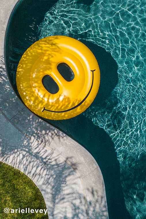 Smiley Face Pool Float,ASSORTED,ONE SIZE