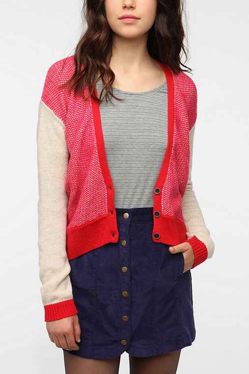 Cooperative Cropped Front Cardigan